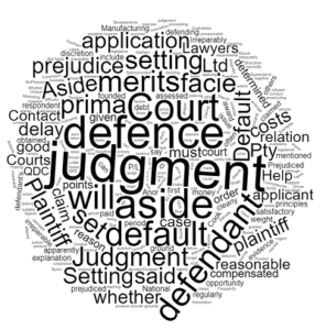 setting aside default judgment in Queensland Stonegate Legal