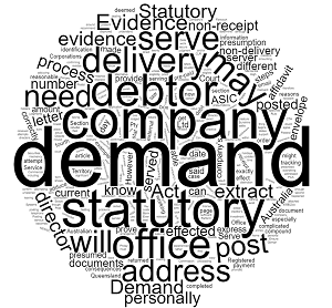 how to serve a statutory demand debt recovery qld