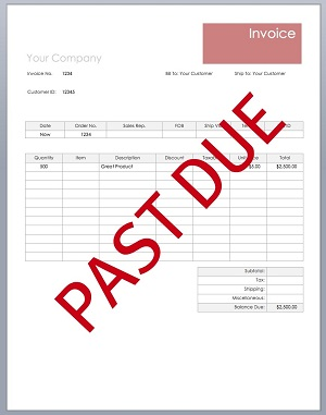 unpaid invoices legal rights