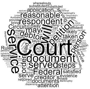 Substituted Service of a Creditor's Petition