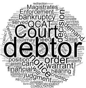 Enforce a QCAT Decision queensland debt recovery