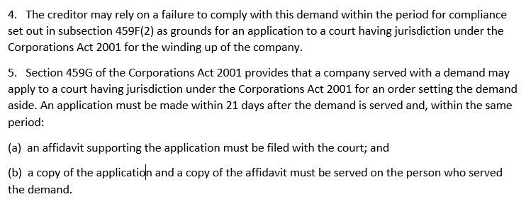 5 if the debtor does not comply the wind the company up