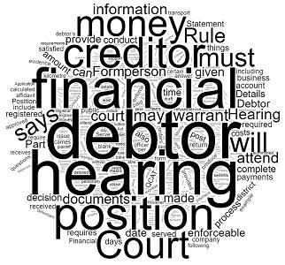 Enforcement Hearing Statement of Financial Position Queensland