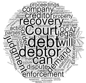 legal proceedings for debt recovery in Queensland